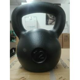 Kettlebell 12 kg ghisa nero